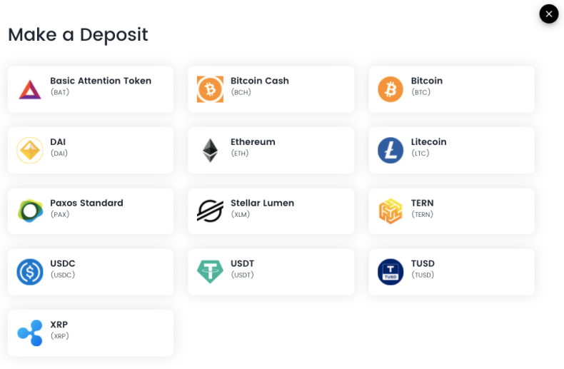 Make a deposit to your Blockcard.